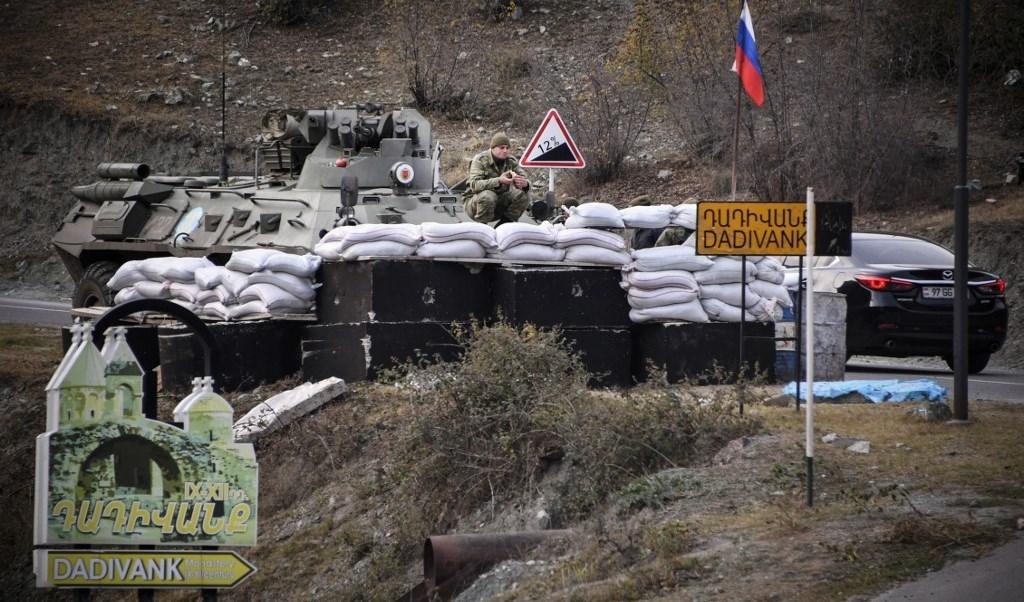 قوات حفظ السلام الروسية في ناغورنو كاراباخ (أ ف ب)