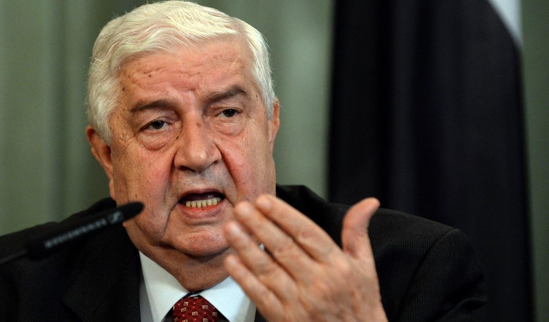 وزير الخارجية السوري الراحل وليد المعلم