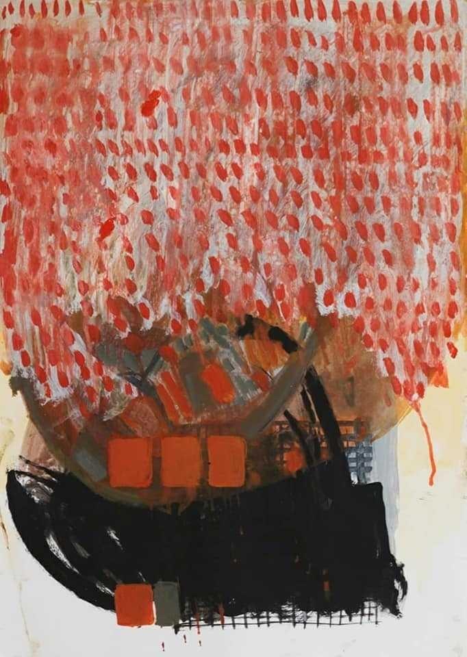فنانون يصارِعون ركود الانهيار في معرض تشكيلي