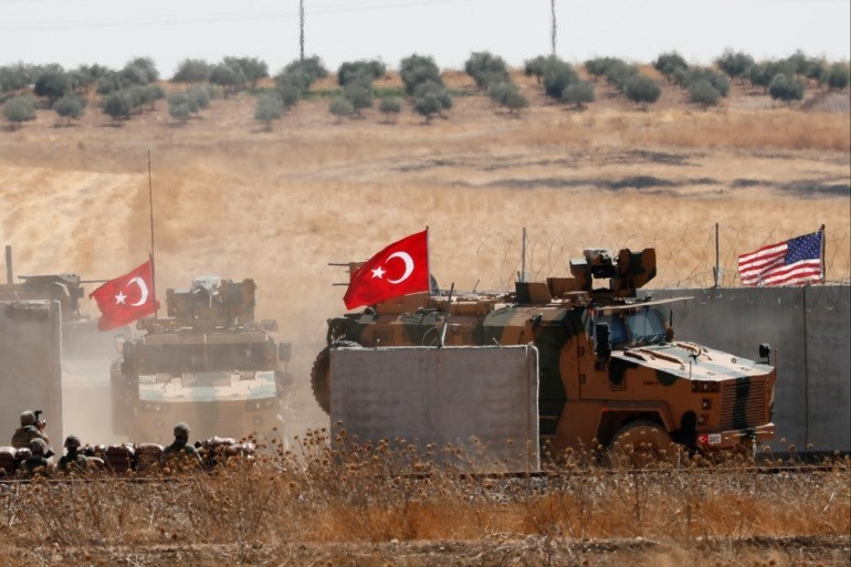 القوات الأميركية والتركية في سوريا