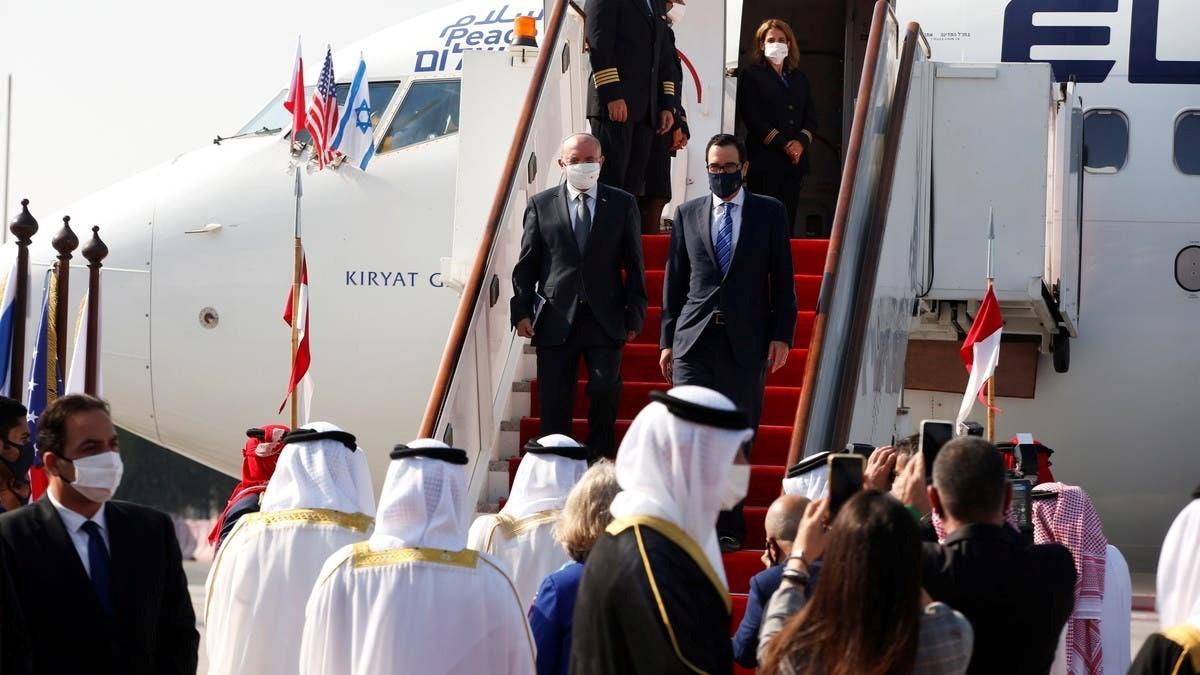 الوفد البحريني الرسمي وصل على متن طيران الخليج إلى مطار بن غوريون