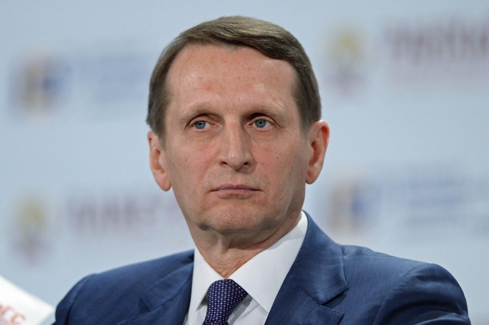 مدير جهاز المخابرات الخارجية الروسي سيرغي ناريشكين