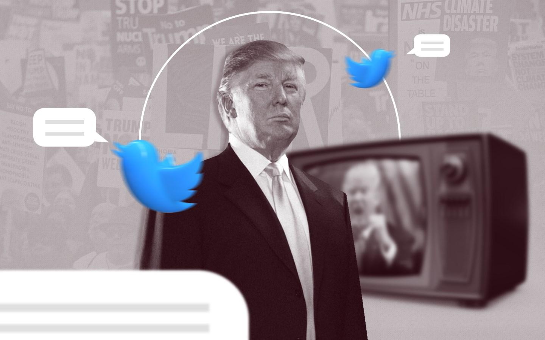 ترامب كتب حوالى 4200 تغريدة في العام، بمعدّل 11 أو 12 تغريدة في اليوم الواحد