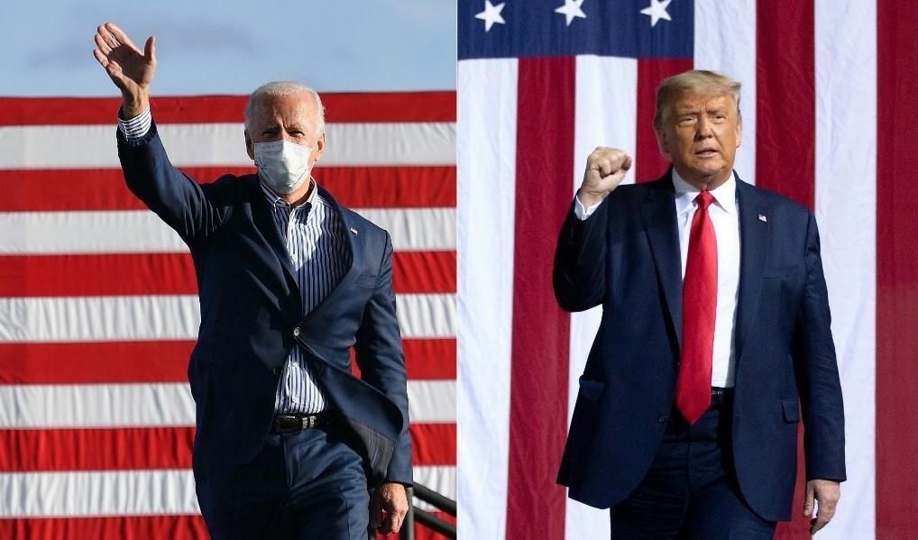 المرشحان للرئاسة الأميركية دونالد ترامب وجو بايدن (أ ف ب - أرشيف)