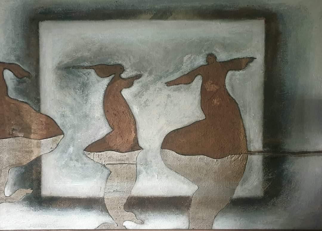 من لوحات منذر مصري