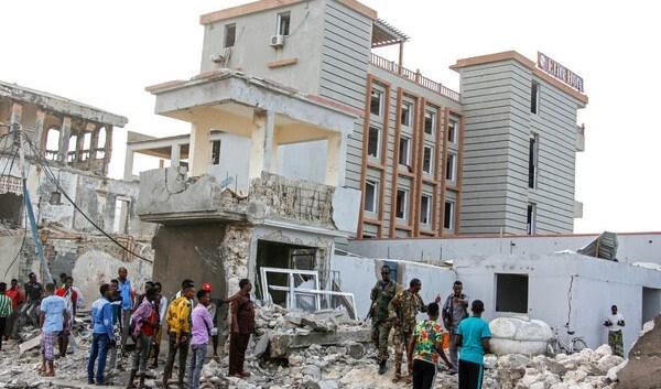 القوات الصومالية بعد اعتداء على فندق في موقاديشو في آب / أغسطس 2020.