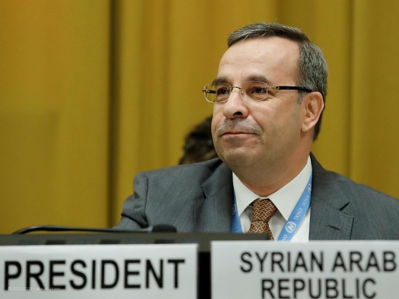 مندوب سوريا الدائم لدى مكتب الأمم المتحدة  حسام الدين الا