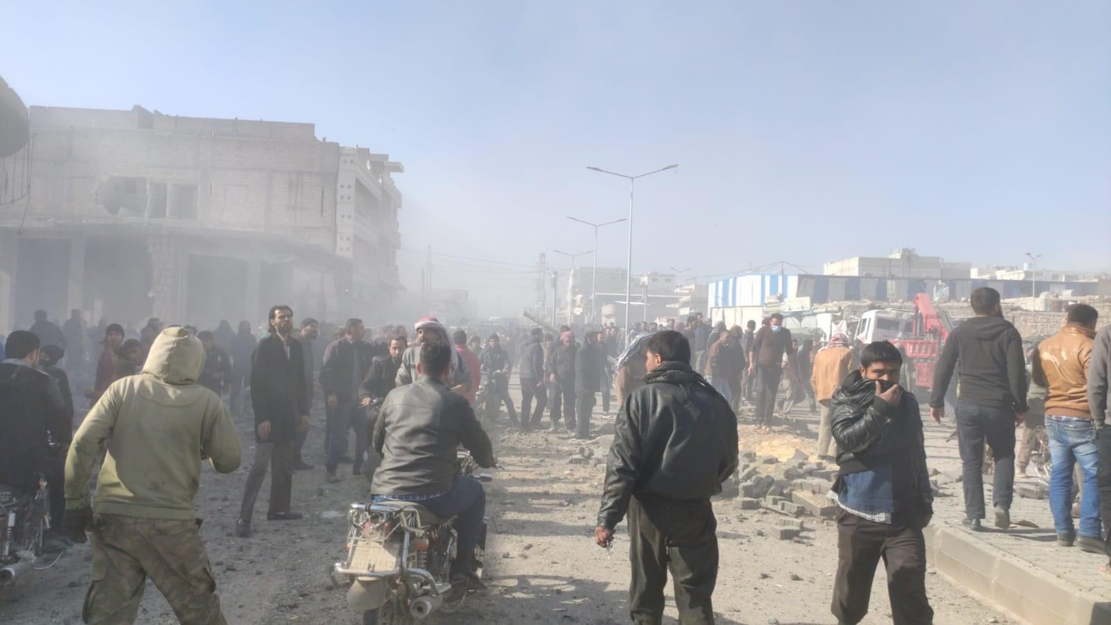 قتلى وجرحى بانفجار سيارة مفخخة في مدينة الباب السورية