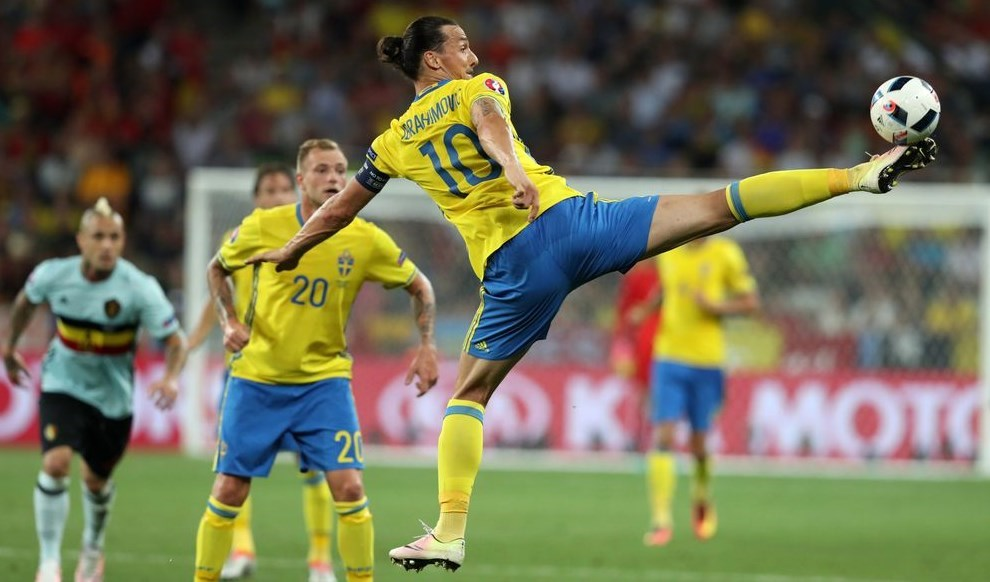 إبراهيموفيتش مع السويد في