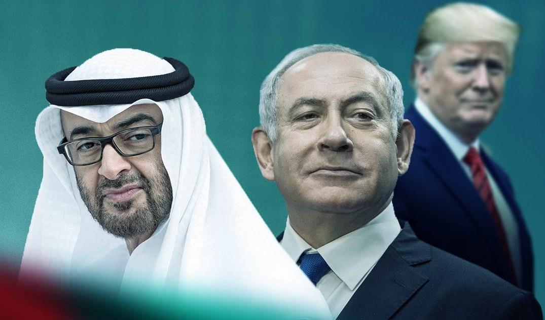 ولي عهد أبو ظبي محمد بن زايد ورئيس الحكومة الإسرائيلي بنيامين نتنياهو