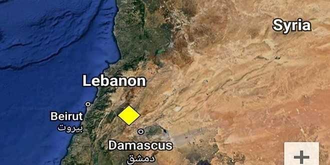 هزة أرضية تضرب شمال شرق دمشق