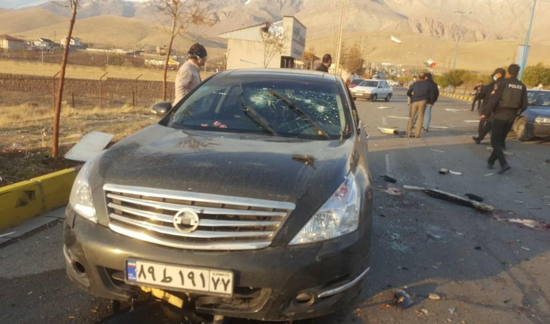 صورة من مكان عملية اغتيال العالم النووي محسن فخري زادة