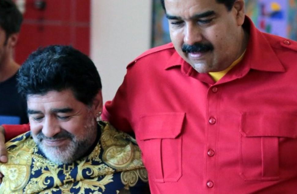 أكّد مادورو أن مارادونا ساعده على التغلُّب على حظر الولايات المتحدة المفروض على بلاده من أجل استيراد الأغذية