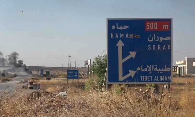 هزة شمال شرق مدينة حماة بحدود 27 كم وعمق 5 كم.