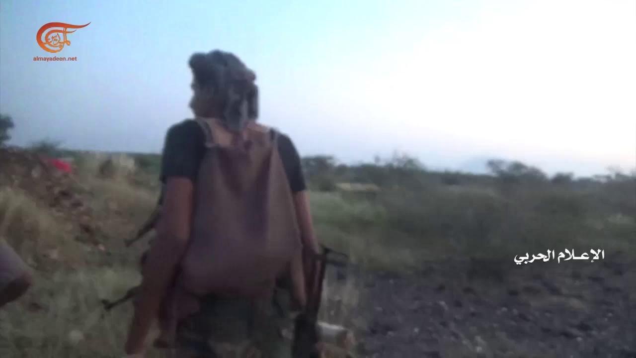عملية اغارة على مواقع مرتزقة الجيش السعودي شرقي جبل النار في حجة في اليمن