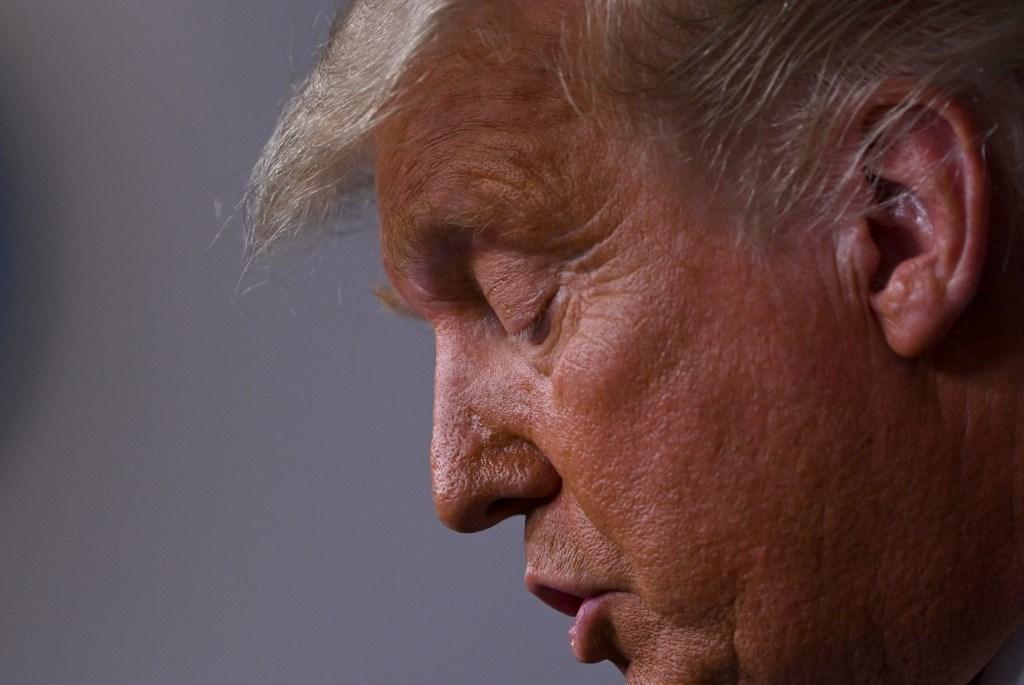 ترامب خلال كلمة له في البيت الأبيض خلال فرز أصوات الانتخابات الرئاسيّة - 5 نوفمبر 2020 (أ.ف.ب)