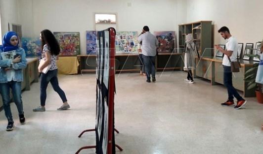 معرض تشكيلي جماعي في جامعة البعث (سانا)