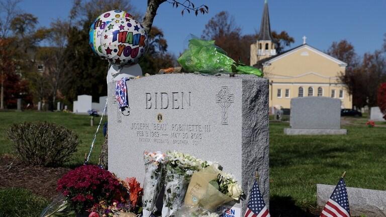 مقبرة دفن فيها نجل بايدن