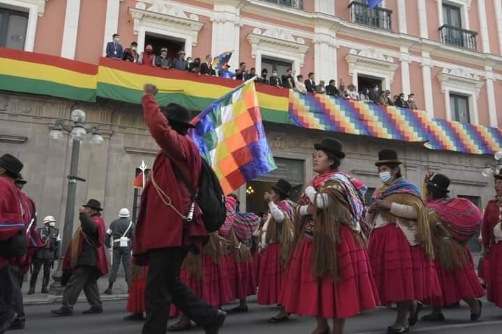جانب من الاحتفالات في بوليفيا 9 تشرين الثاني/نوفمبر 2020