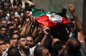 جثمان الشهيد حسين ابو غوش