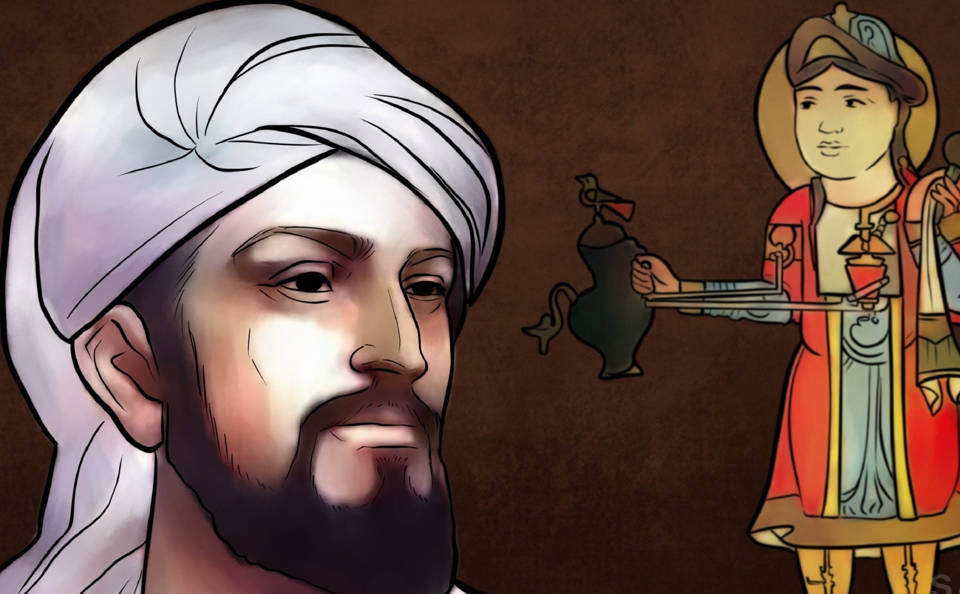 بديع الزمان أبو العز بن إسماعيل بن الرزاز الجزري مخترع أول روبوت، وهو
