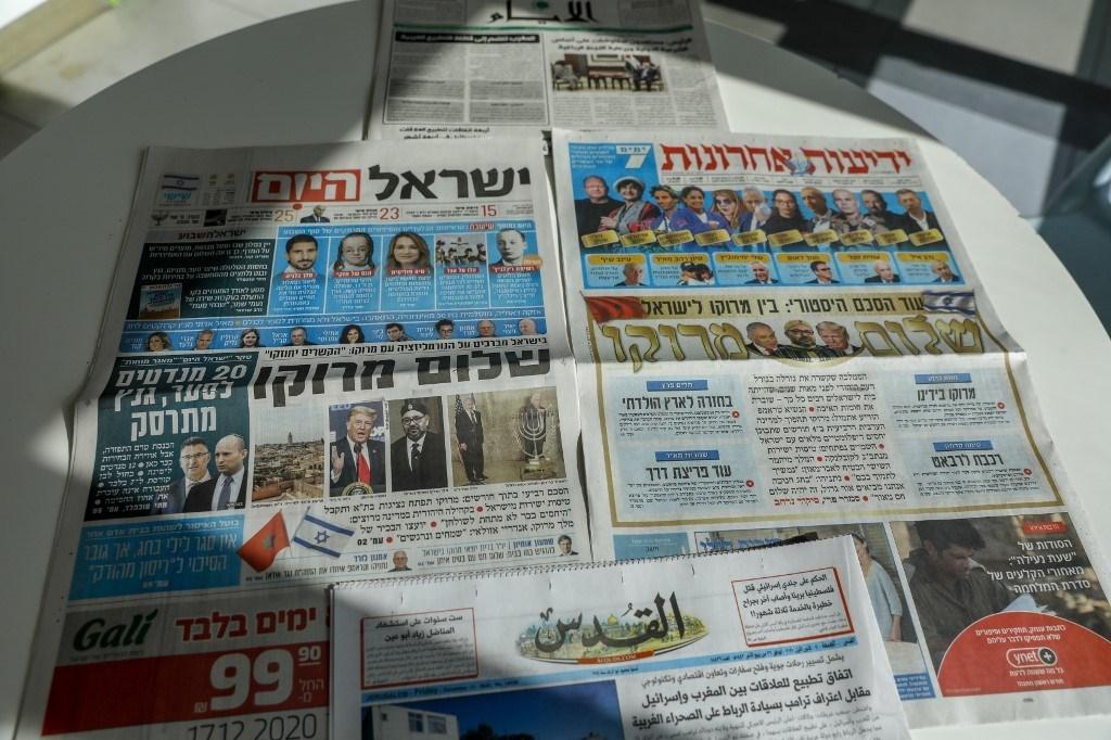 عناوين الصحف الإسرائيلية حول التطبيع المغربي مع