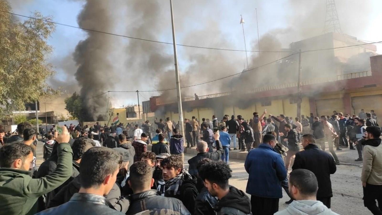 قتل  9 أشخاص من بينهم أمنيين وإصابة 56 آخرين إثر الأحدث التي رافقت الاحتجاجات في السليمانية