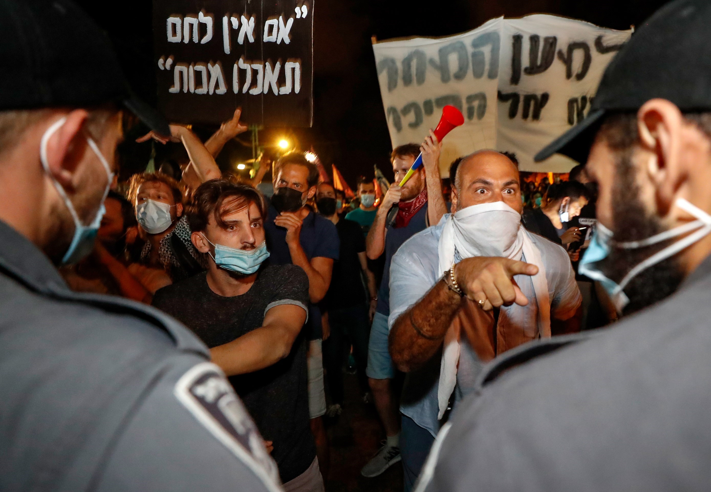تظاهرات ضد نتنياهو