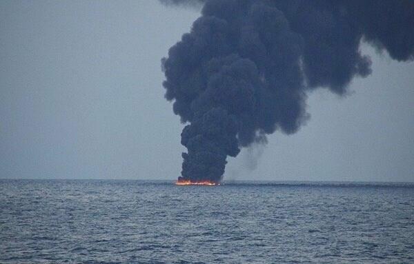 السفينة بي دبليو راين أصيبت من مصدر خارجي أثناء تفريغها في ميناء جدة بالسعودية