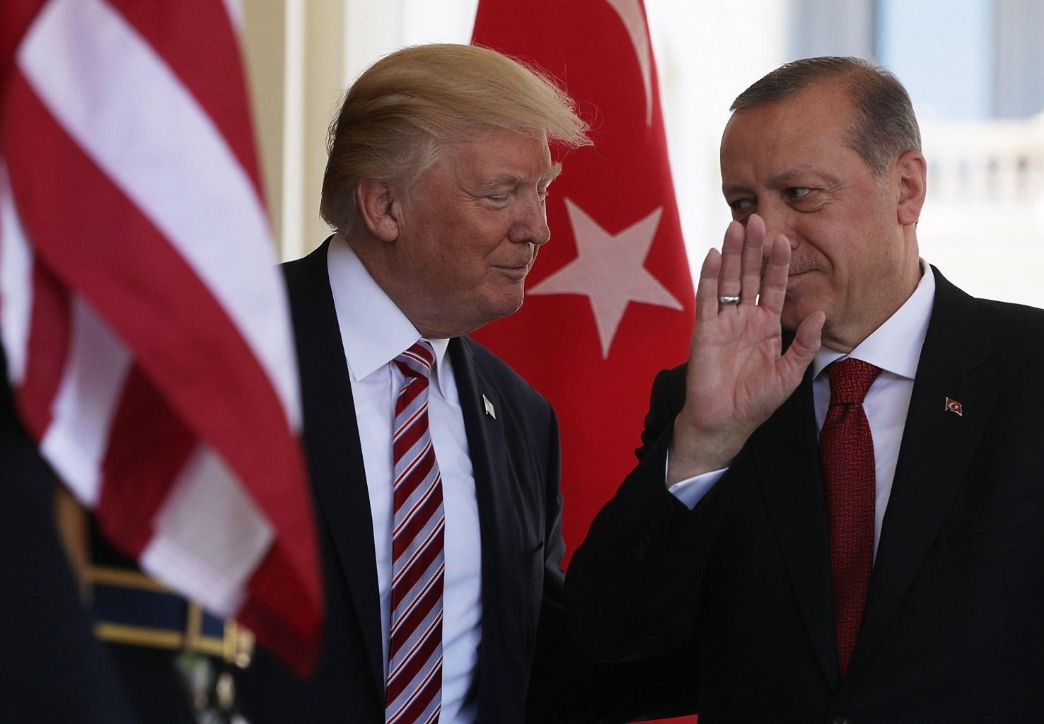 الرئيس الأميركي دونالد ترامب ونظيره التركي