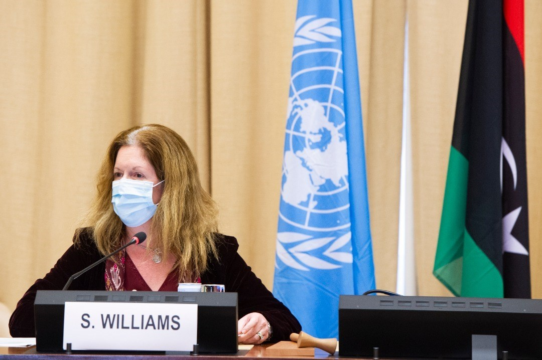 مبعوثة الأمم المتحدة إلى ليبيا بالإنابة ستيفاني ويليامز  خلال اجتماع جنيف - 14 ديسمبر 2020
