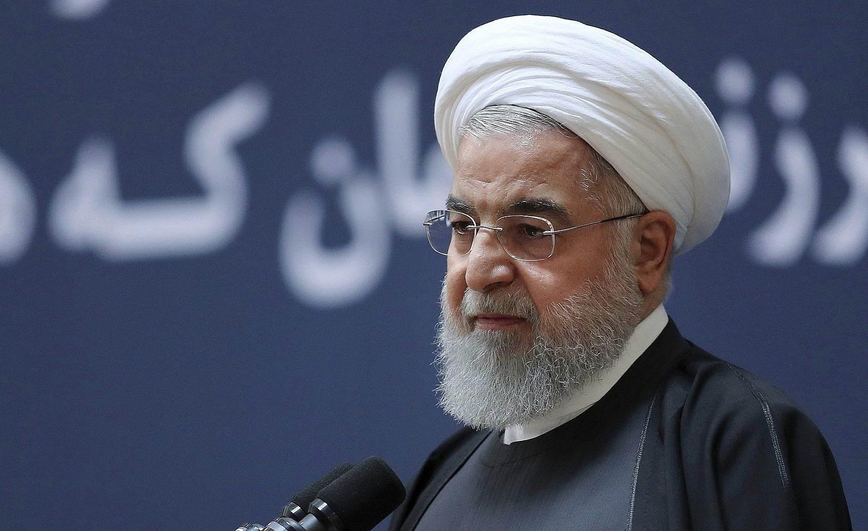 روحاني أكد الشهر الماضي أن عهد الضغوط القصوى على بلاده في طريقه إلى الزوال