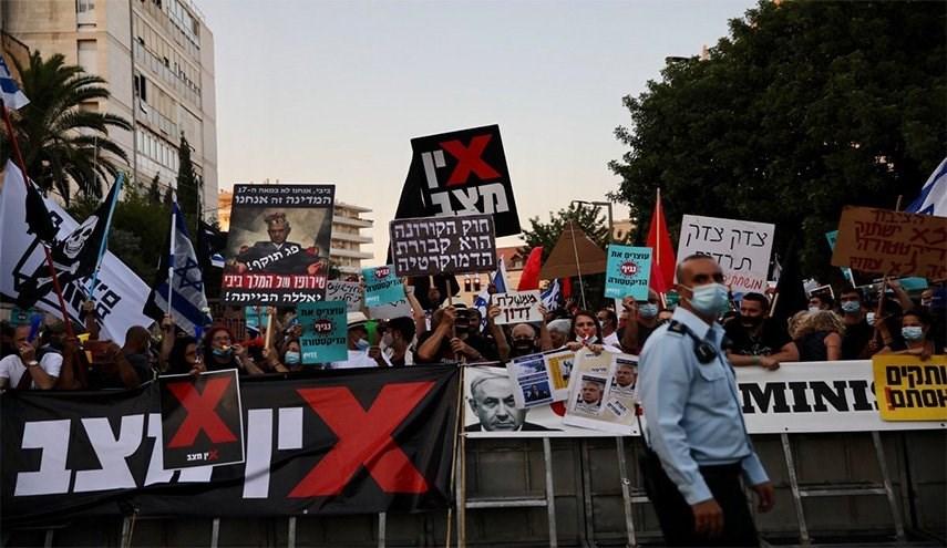 التظاهرات ضد نتنياهو تستمر في الأراضي المحتلة (أرشيف)