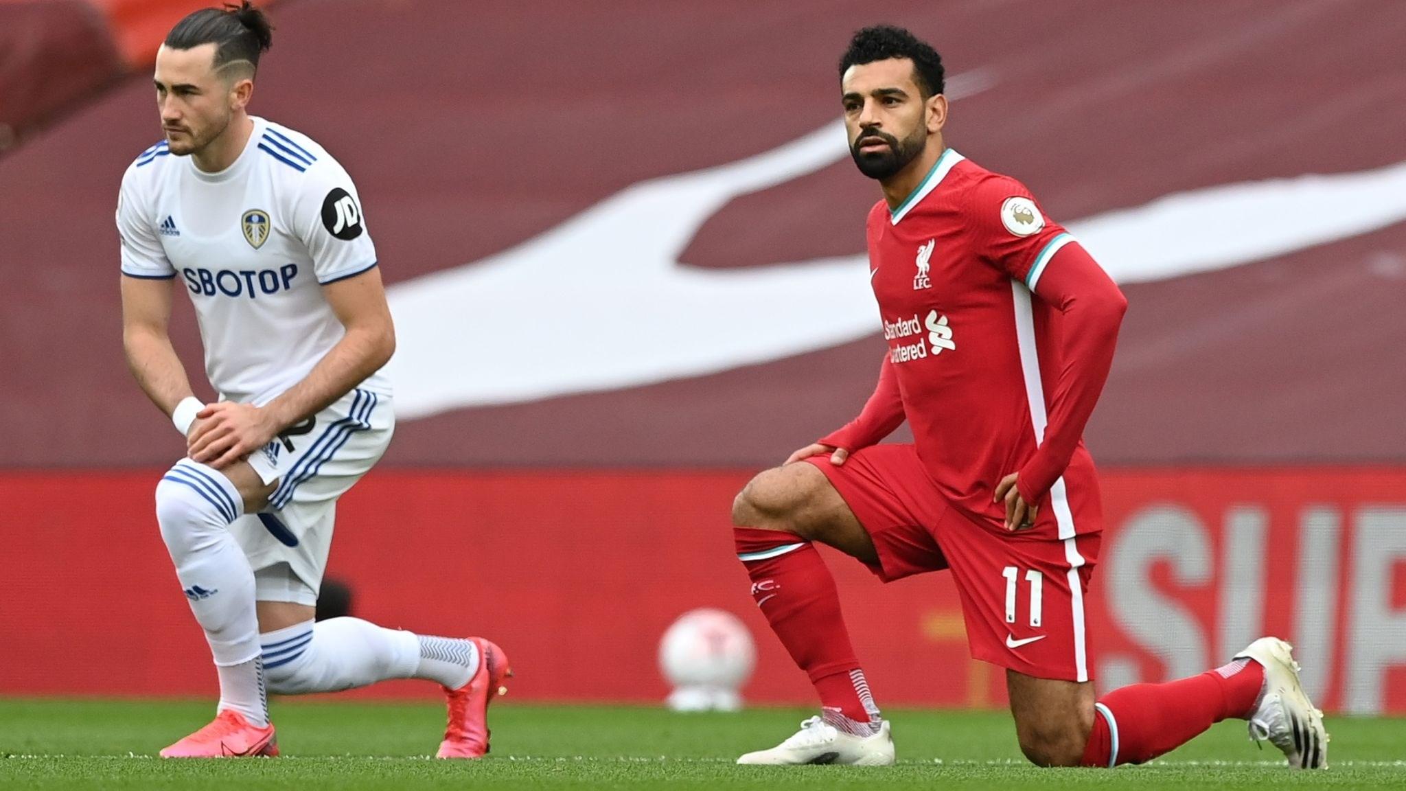 محمد صلاح لاعب ليفربول قبل مباراة ليدز يونايتد