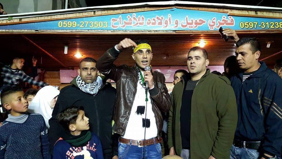 استقبال الأسير جبريل الزبيدي بعد الإفراج عنه عام 2016.