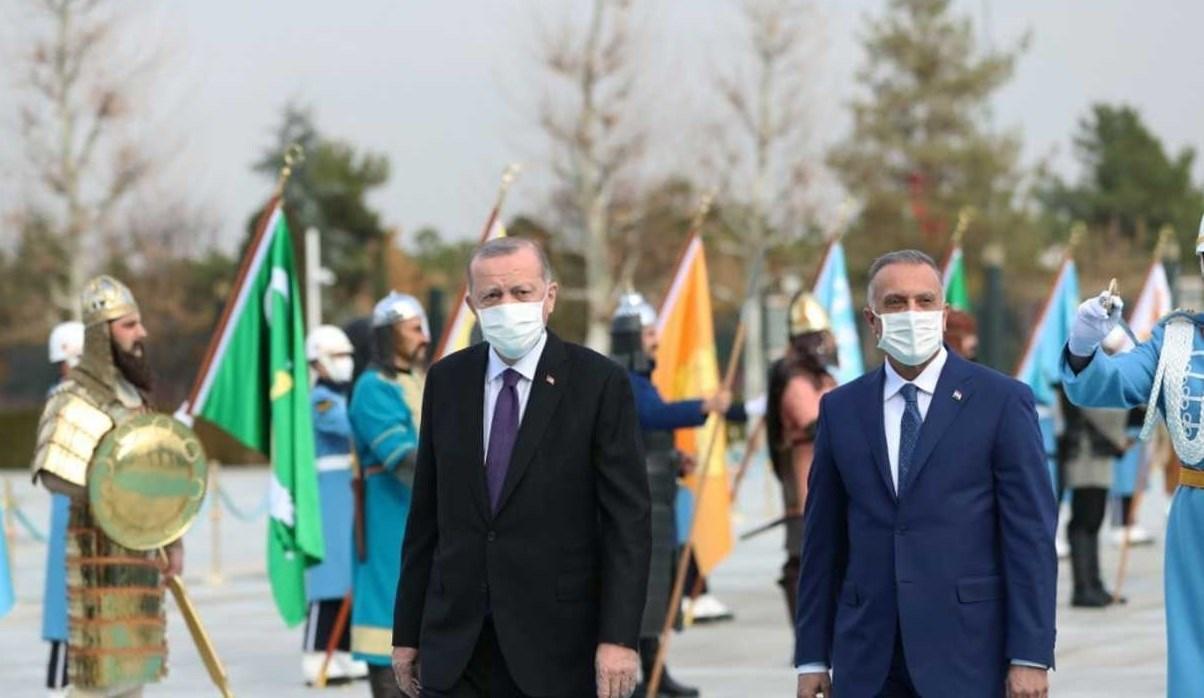 رئيس الوزراء العراقي مصطفى الكاظمي زار تركيا على رأس وفدٍ حكوميٍّ رفيع المستوى