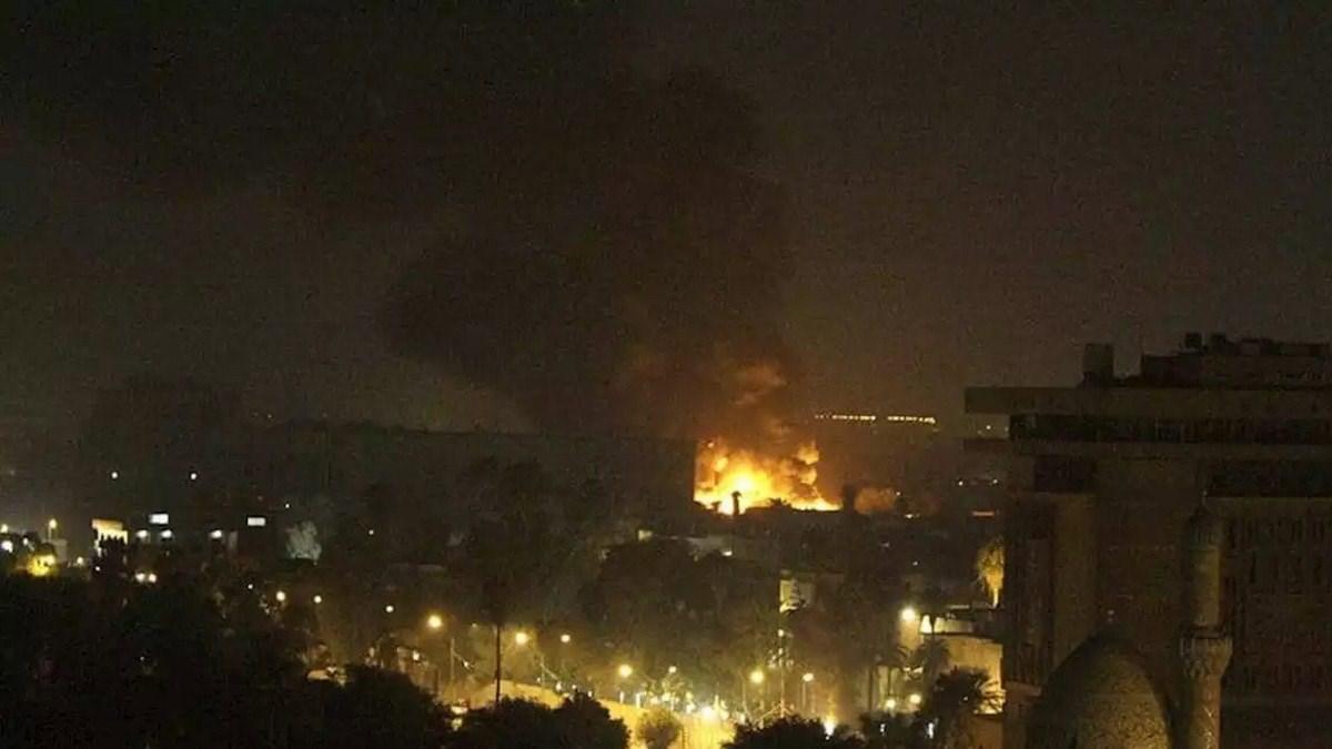 صورة أرشيف - المنطقة الخضراء بوسط بغداد