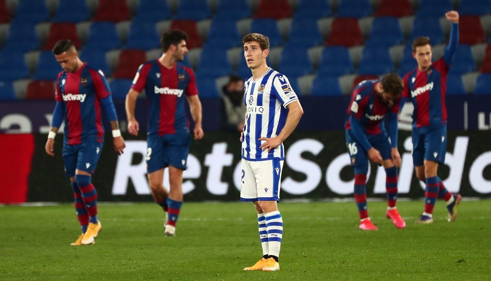 خسر ريال سوسييداد أمام ليفانتي 1-2