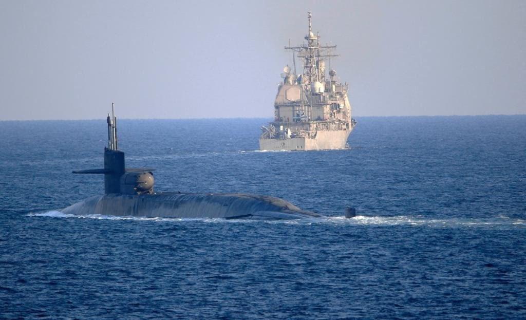 صورة نشرتها البحريّة الأميركيّة للغواصة الغواصة النوويّة