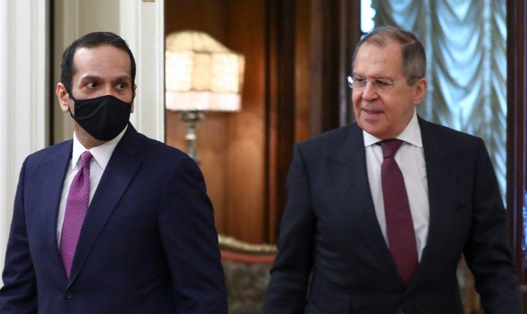 لافروف يستقبل نظيره القطري محمد بن عبد الرحمن آل ثاني خلال اجتماع في موسكو