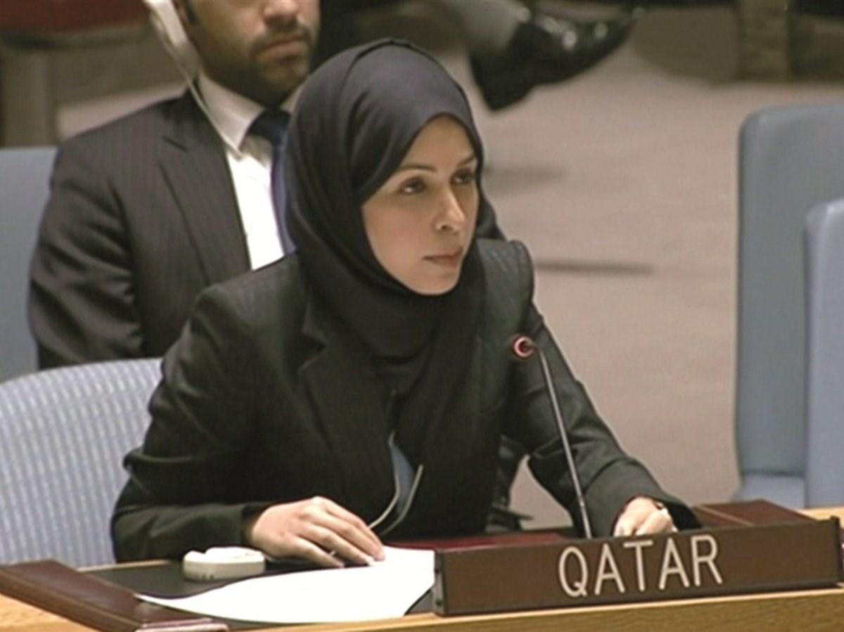 سفيرة قطر الشيخة علياء أحمد بن سيف آل ثاني المندوب الدائم لدولة قطر لدى الأمم المتحدة