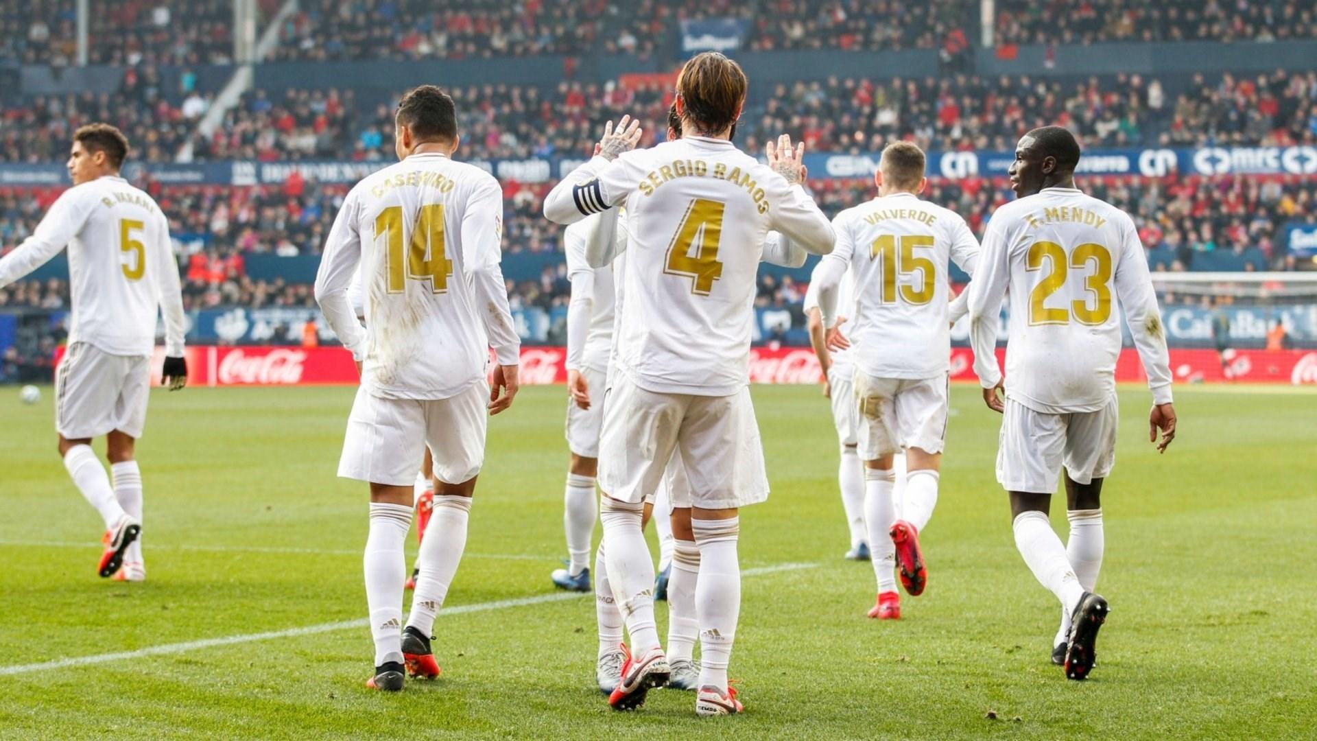 مجموعة من لاعبي ريال مدريد (أرشيف)