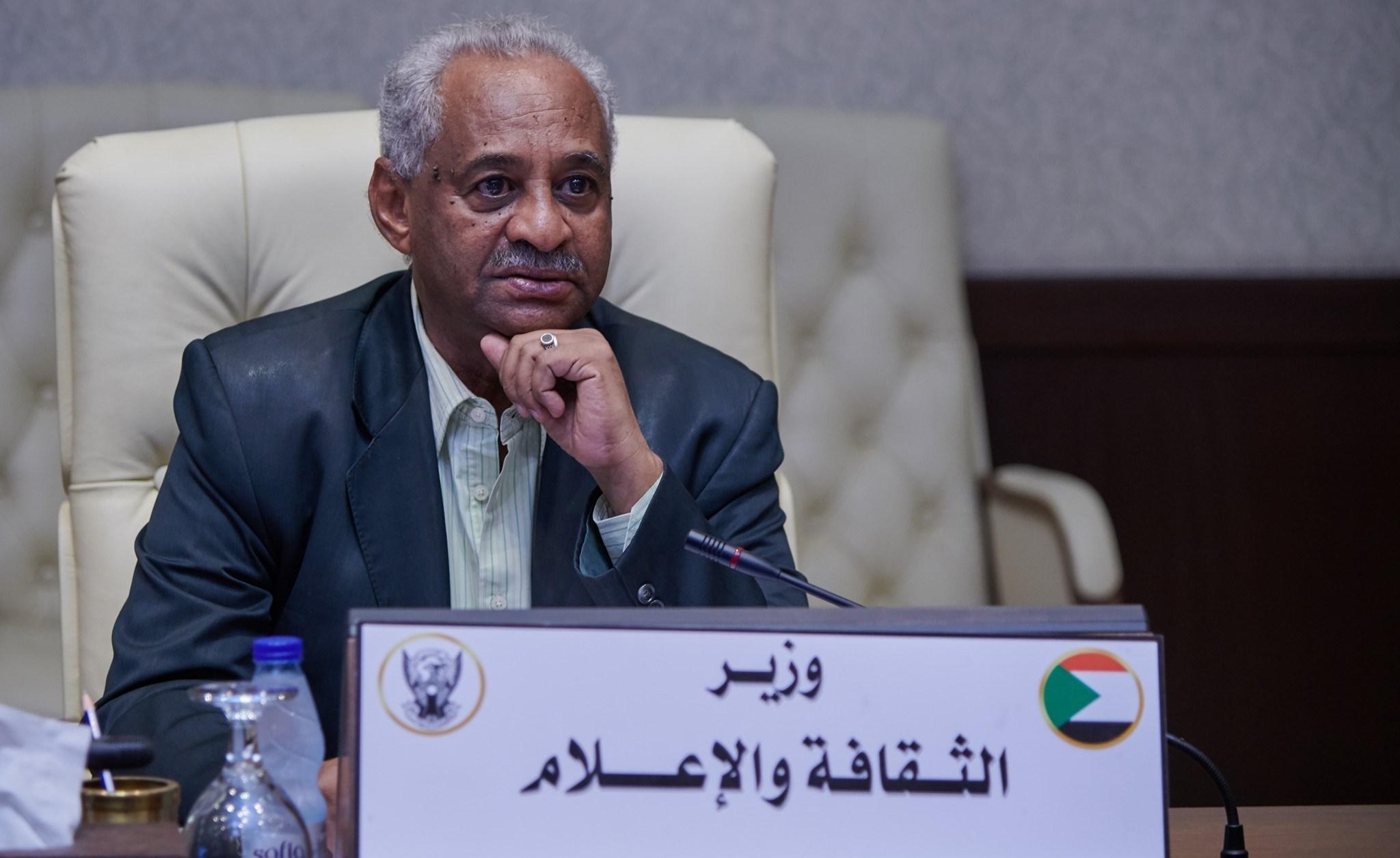 وزير الإعلام السوداني فيصل محمد صالح (صورة أرشيفية).