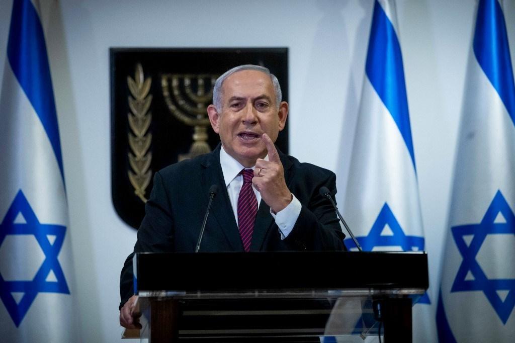 نتنياهو خلال كلمة له في الكنيست الإسرائيلي في القدس المحتلة - 22 ديسمبر 2020 (أ.ف.ب)