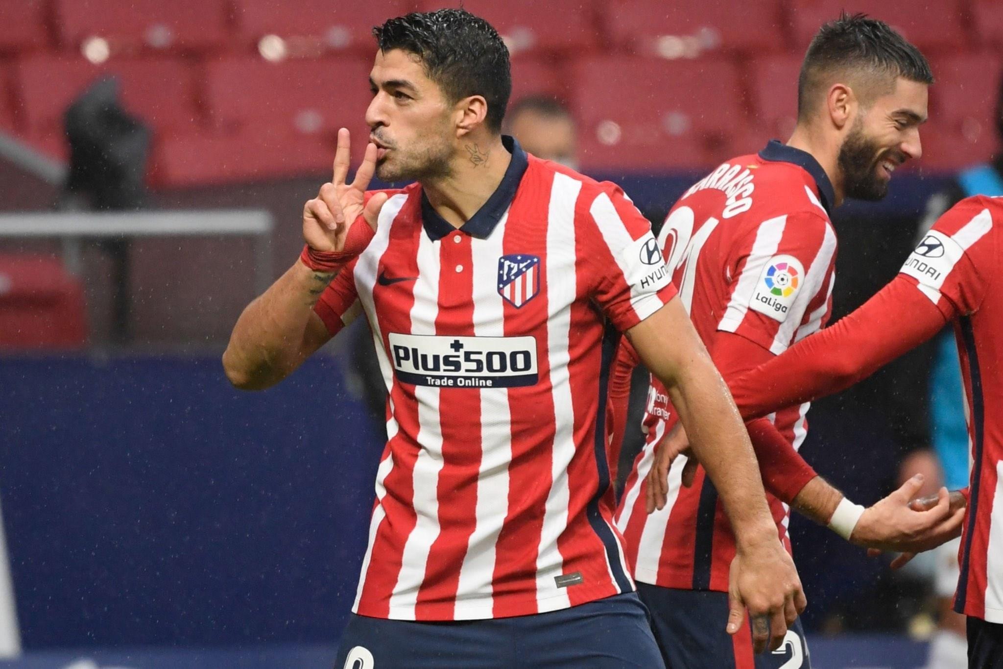 سواريز يقود أتلتيكو مدريد للفوز
