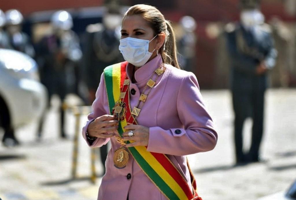 الرئيسة البوليفيّة المؤقتة السابقة جانين أنييز (أ.ف.ب)