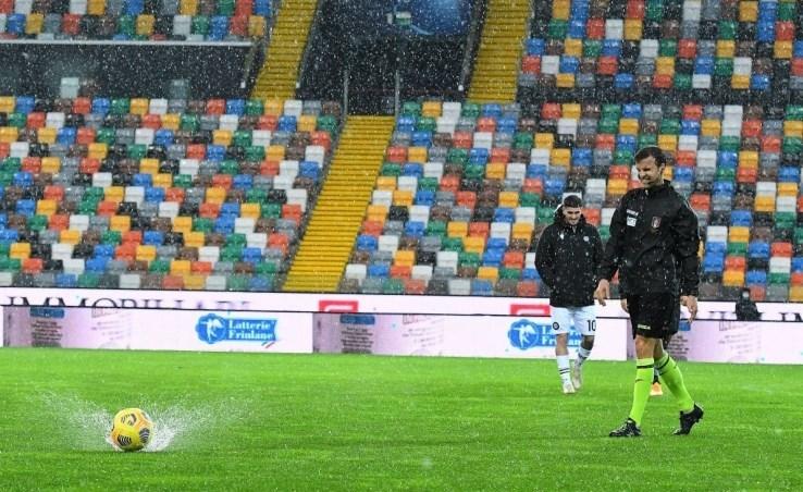 تأجّلت مباراة أودينيزي وأتالانتا بسبب الأمطار الغزيرة