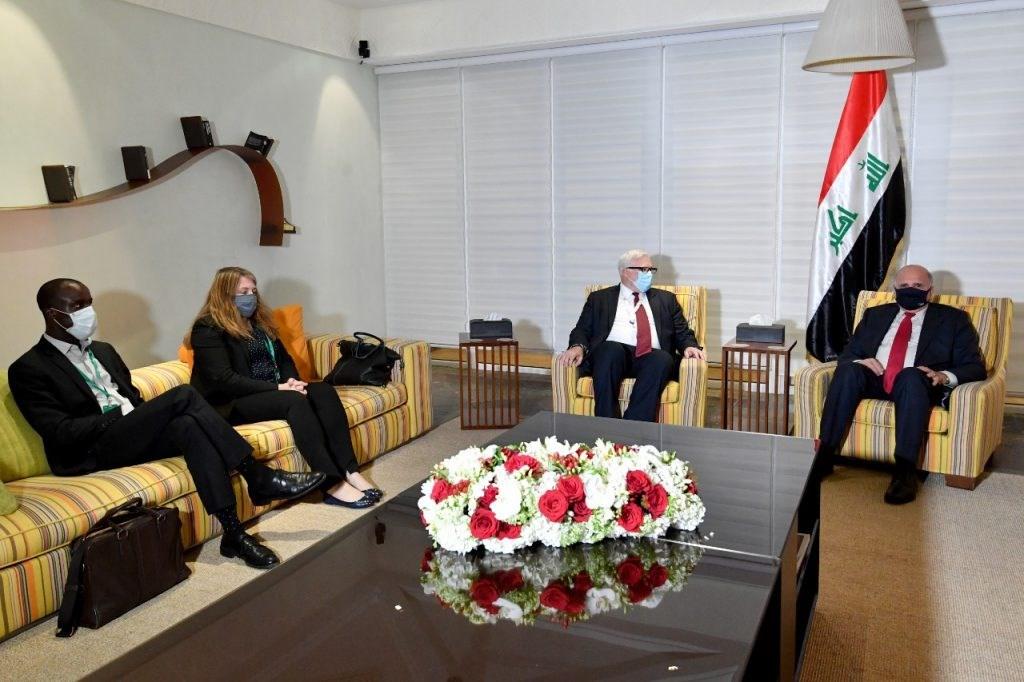 لقاء وزير الخارجية فؤاد حسين مع المبعوث الأميركي إلى سوريا جويل رايبون