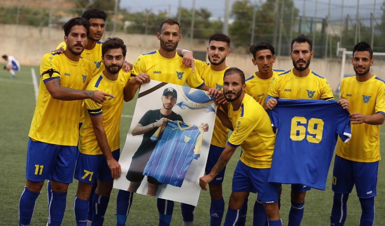 لاعبو الصفاء يوجهون تحية للاعب اللبناني الراحل محمد فحص