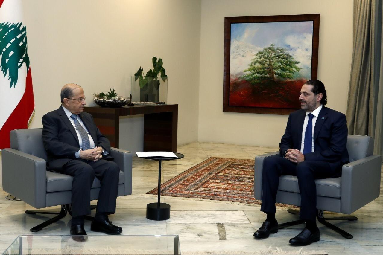 لقاء الحريري مع رئيس الجمهورية ميشال عون في القصر الجمهوري اليوم الأربعاء.